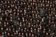"""<div class=""""caption-credit""""> Photo by: Getty Images</div>About 25,000 Ultra-Orthodox Jews from around the world attended the event, which took place in Jerusalem, Israel, on Tuesday, May 21."""