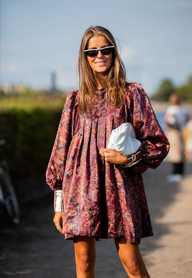 <p>From puffy, almost princess-like sleeves to Victorian-inspired silhouettes and sweet prints, romance is a big theme for Fall. While it's warm, opt for a puffy-sleeve top or voluminous mini with sandals and in Autumn, simply swap for boots.</p>