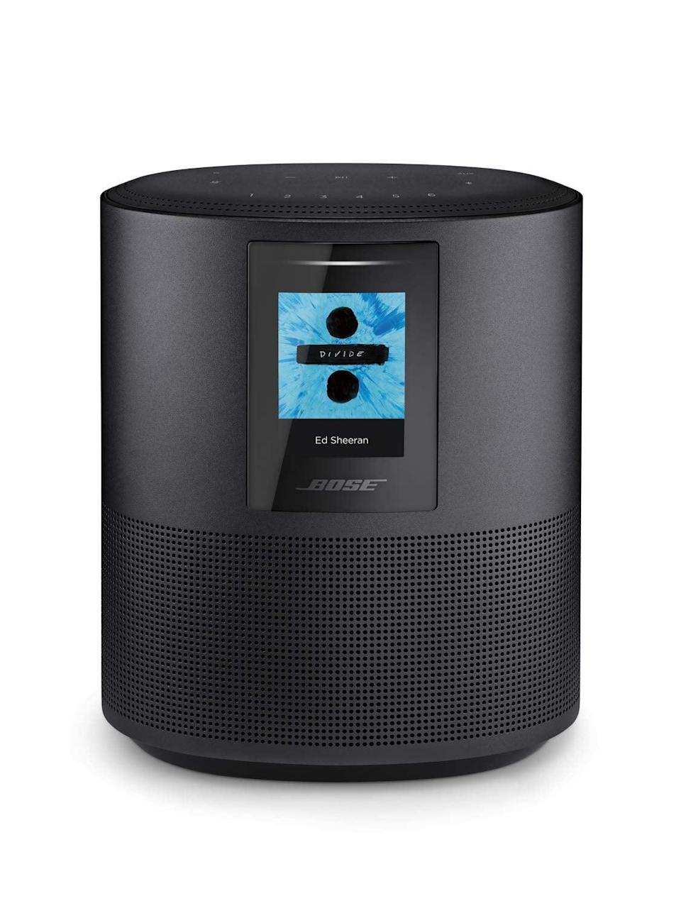 <p>Treat them to a home speaker system that will last them years with this <span>Bose Home Speaker 500</span> ($299). It also features Alexa voice control for easy operation.</p>
