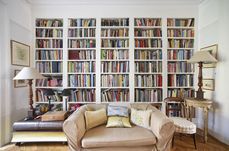 """<p>Books carry a surprising amount of emotional weight: The very idea of going through stacks and shelves can be draining. '<span>Book inspire such strong emotions because they have been portals into other worlds, they gave us other lives and expanded imaginations,' says <a rel=""""nofollow noopener"""" href=""""http://christinawaters.com/"""" target=""""_blank"""" data-ylk=""""slk:Christina Waters, PhD"""" class=""""link rapid-noclick-resp"""">Christina Waters, PhD</a>, author of <em>Inside the Flame: The Joy of Treasuring What You Already Have</em><span>.</span> 'We tend to keep those that have been with us during important times in our lives. A favourite novel when we were growing up carries our youthful dreams in its pages. That book of poetry given by a sweetheart is steeped in the feelings we had for each other. It's like giving up a piece of our lives to let go of a beloved book.'</span></p><p><span><strong>More: </strong></span><span><strong><a rel=""""nofollow noopener"""" href=""""http://www.housebeautiful.co.uk/lifestyle/storage/advice/a913/organising-books-at-home/"""" target=""""_blank"""" data-ylk=""""slk:How to organise your book collection"""" class=""""link rapid-noclick-resp""""><em>How to organise your book collection</em></a></strong></span></p>"""