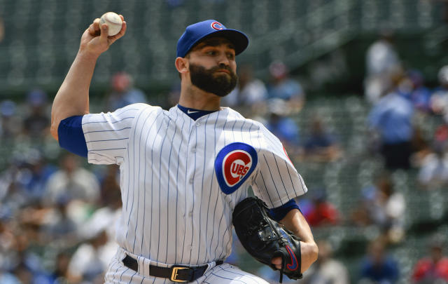 Tyler Chatwood has started 15 games for the Cubs. In those games, he has thrown 73 1/3 innings. And in those 73 1/3 innings, he has walked 66. (AP)
