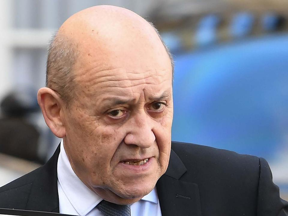 French Foreign Affairs Minister Jean-Yves Le Drian leaves the Elysee Presidential Palace in Paris: AFP via Getty Images