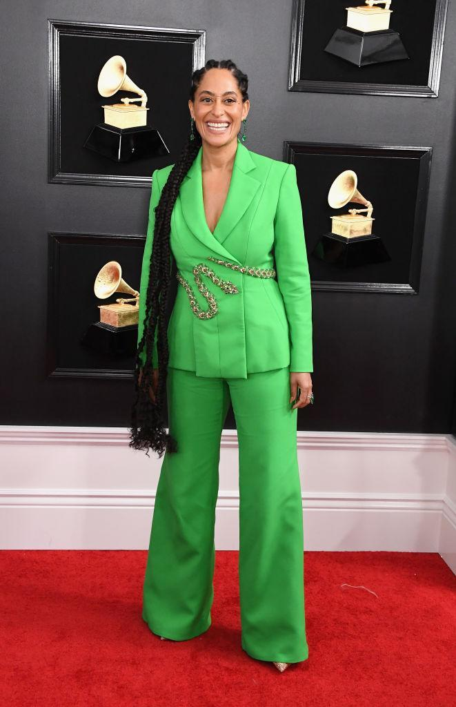 <p>Tracee Ellis Ross attends the 61st annual Grammy Awards at Staples Center on Feb. 10, 2019, in Los Angeles. </p>