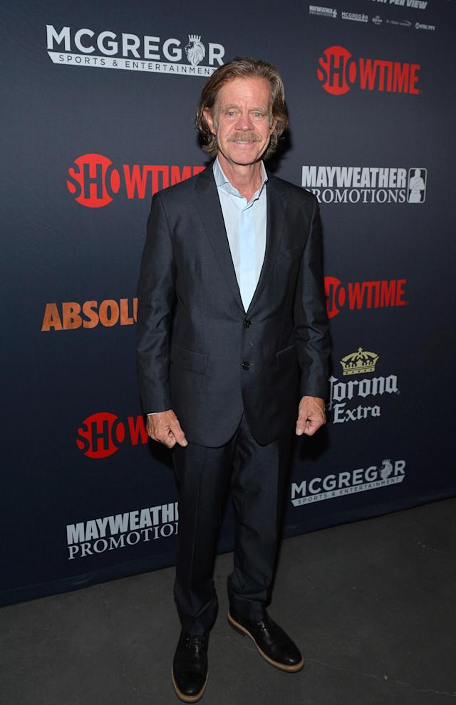 <p>Actor William H. Macy attends the Showtime, WME IME and Mayweather Promotions VIP Pre-Fight party for Mayweather vs. McGregor at T-Mobile Arena on August 26, 2017 in Las Vegas, Nevada. (Photo by Bryan Steffy/Getty Images for Showtime) </p>