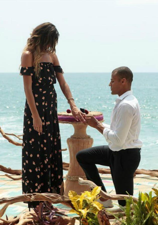 His last appearance on Bachelor in Paradise US saw him down on one knee, let's hope he can find love again. Source: ABC