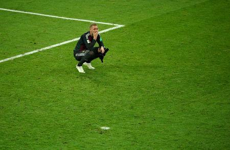 FILE PHOTO: World Cup - Group F - Germany vs Sweden - Fisht Stadium, Sochi, Russia - June 23, 2018 Sweden's Robin Olsen looks dejected after the match REUTERS/Hannah McKay/File Photo
