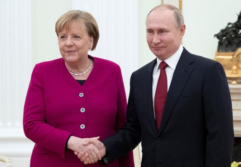 German Chancellor Angela Merkel visits Russia