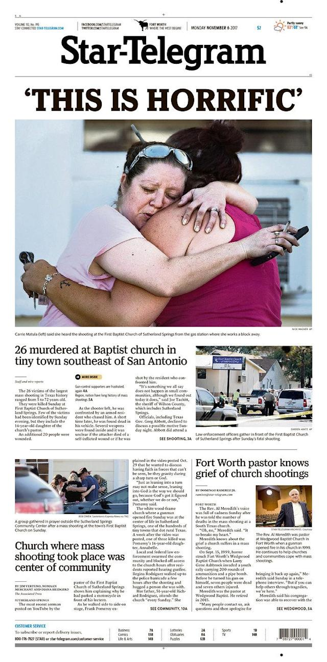 <p>FORT WORTH STAR-TELEGRAM<br> Published in Fort Worth, Texas USA. (newseum.org) </p>