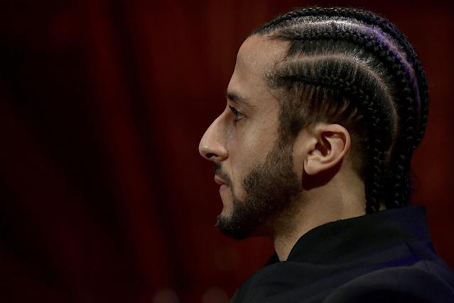 """Colin Kaepernick and <a class=""""link rapid-noclick-resp"""" href=""""/nfl/players/26641/"""" data-ylk=""""slk:Eric Reid"""">Eric Reid</a> reportedly received less than $10 million from the NFL to settle their collusion grievance. (Paul Marotta/Getty Images)"""