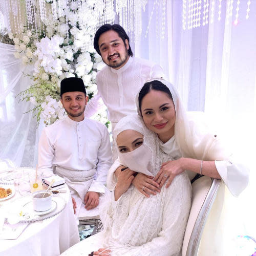 Izara Aishah and husband were among the celebrity guests at the wedding