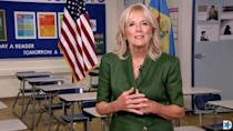 Jill Biden offered an impassioned speech about her husband at the Democratic National Convention in August 2020, from a Wilmington high school classroom where she once taught in the 1990s