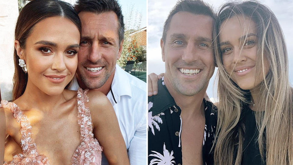 Mitchell Pearce, pictured here with fiancee Kristin Scott.