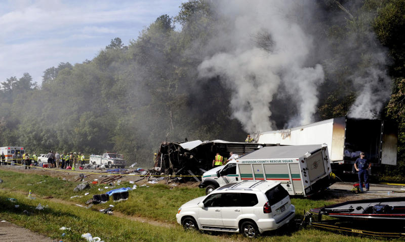 Most victims of fiery bus crash identified