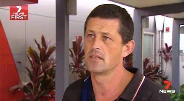 Donald McInnes was attacked by dogs. Picture: 7 News