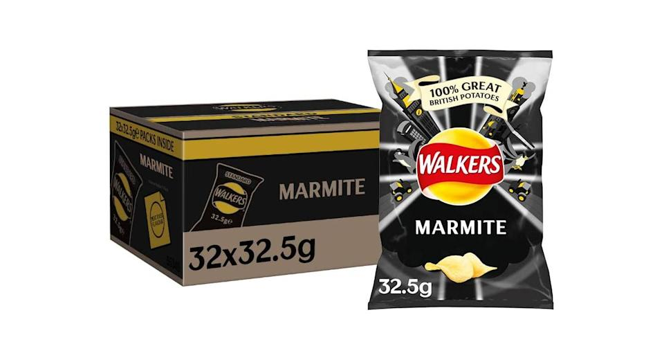 Case of 32 Walkers Marmite Crisps Box