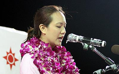 Nicole Seah makes a surprise apology. (Yahoo! photo/Kzan Kek)