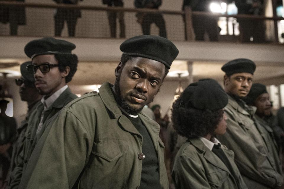 """<p><strong>Nominated for:</strong> Best Picture (Shaka King, Charles D. King and Ryan Coogler, producers), Best Supporting Actor (Daniel Kaluuya, Lakeith Stanfield), Best Original Screenplay (Screenplay by Will Berson, Shaka King; Story by Will Berson, Shaka King, Kenny Lucas, Keith Lucas), Best Original Song (""""Fight for You,"""" music by H.E.R. and Dernst Emile II; Lyric by H.E.R. and Tiara Thomas), Best Cinematography (Sean Bobbitt)</p> <p><strong>What it's about:</strong> The true story of the murder of Black Panther Party chairman Fred Hampton by the FBI after a young man infiltrated the party on behalf of the bureau as part of a plea deal.</p> <p><strong>Where to watch:</strong> <a href=""""https://cna.st/affiliate-link/2WCz5sTzkqUPsw881qajvRsaSbjhKeSwdAfwaHe87sLgYzCrtjyASP8dRiPbSnd9M87FLJDqrCFFNgzozQrTCLF74hQR3wsco9oEKheU52mgBLWDDS79sc5ct66LK8BJxDXCQA5PoBU4uvw3ZvjR?cid=604facbc876e6e1af71bca92"""" rel=""""nofollow noopener"""" target=""""_blank"""" data-ylk=""""slk:Rent now on Vudu"""" class=""""link rapid-noclick-resp"""">Rent now on Vudu</a></p>"""