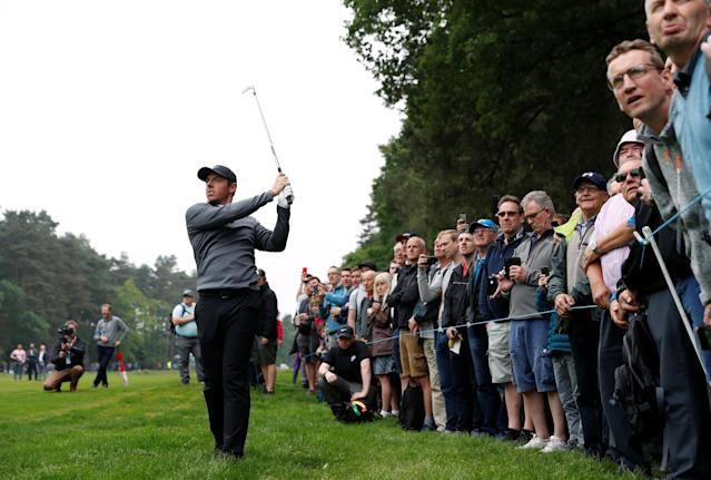 Golf - European Tour - BMW PGA Championship - Wentworth Club, Virginia Water, Britain - May 25, 2018 Northern Ireland's Rory McIlroy during the second round Action Images via Reuters/Paul Childs