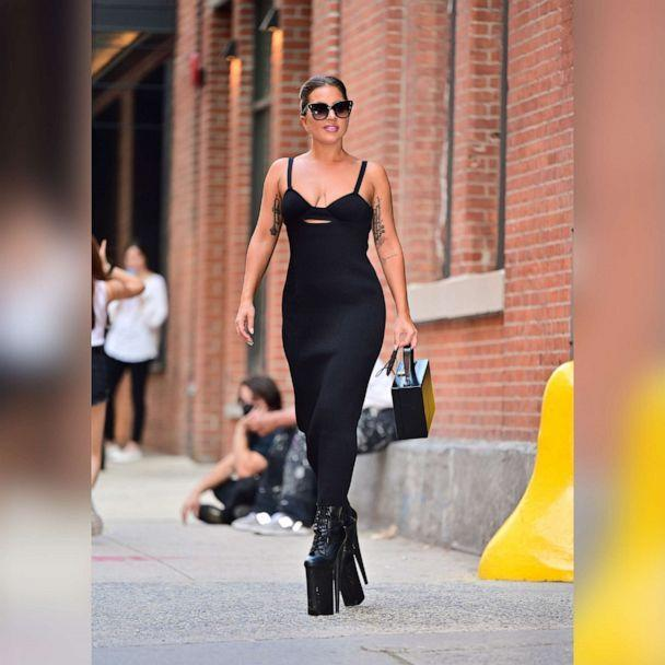 PHOTO: Lady Gaga seen on the streets of Manhattan on July 26, 2021, in New York. (James Devaney/GC Images via Getty Images)