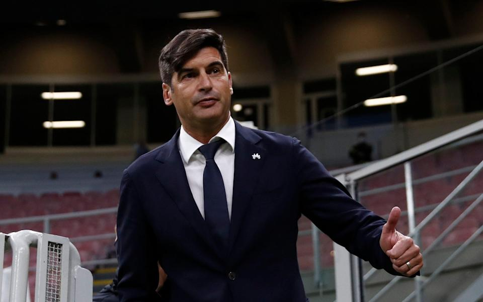 AS Roma coach Paulo Fonseca before the match. - REUTERS