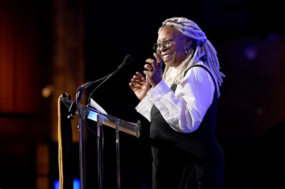 Whoopi Goldberg speaks onstage during The National Board of Review Annual Awards Gala on January 08, 2020. (Photo by Jamie McCarthy/Getty Images for National Board of Review)