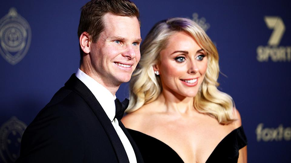 Steve Smith and Dani Willis, pictured here at the 2020 Cricket Australia Awards.
