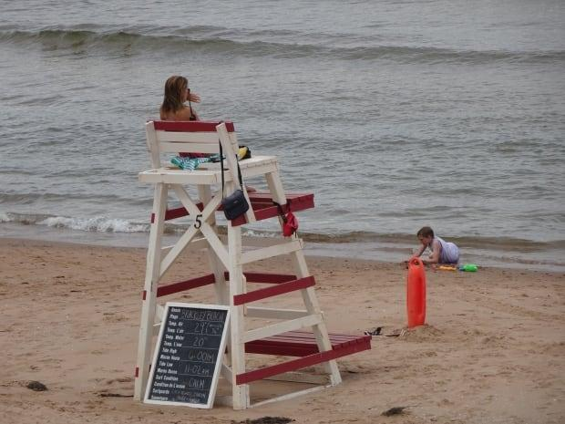 P.E.I. is hiring a full staff of 45 lifeguards this summer for its provincial park beaches. (Jane Robertson/CBC - image credit)