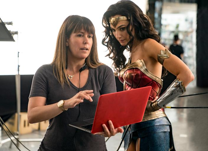 """Aside from """"Morbius"""" and """"Venom 2,"""" every big superhero movie coming to theaters in 2020 featured a prominent Marvel or DC character or an A-list actress stepping into the comic-book world for the first time. Here, director Patty Jenkins stands on set of """"WW1984"""" with Gal Gadot."""