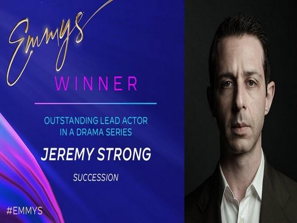 Jeremy Strong wins Lead Actor in Drama series (Photo/ Television Academy Twitter)