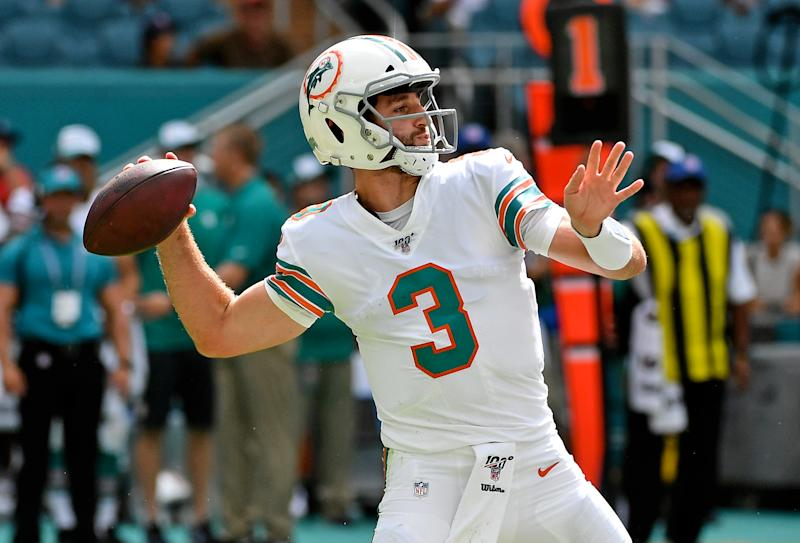Josh Rosen, pictured here earlier in the season, led Miami to its first lead of the season against the Chargers. (Reuters)