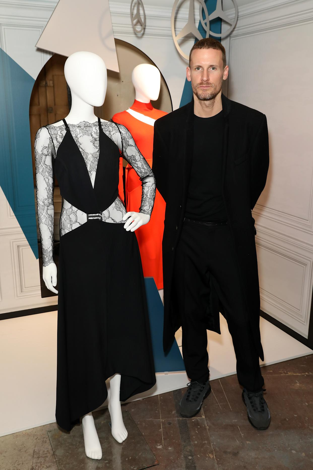 "<h1 class=""title"">Mercedes Benz Fashion Talents 10th Anniversary</h1> <div class=""caption""> Photo by Darren Gerrish. Dion Lee with his designs in London. </div> <cite class=""credit"">Darren Gerrish</cite>"