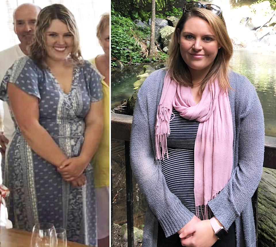 Heidi pictured before she lost 20kg ahead of her endometriosis surgery. Photo: supplied.