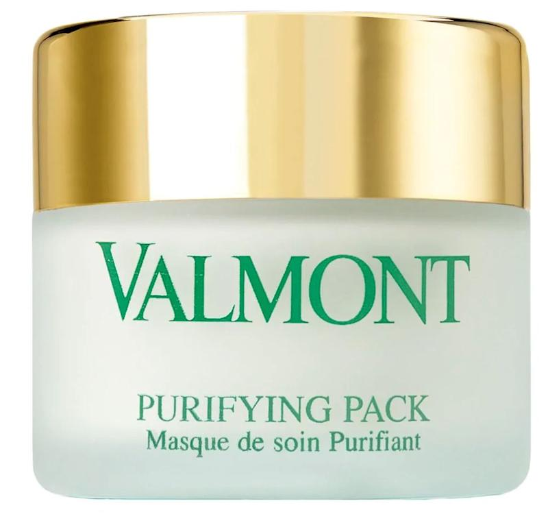 """For the oily areas, apply a purifying mask such as <a href=""https://fave.co/3ceetBz"" target=""_blank"" rel=""noopener noreferrer"">Valmont Purifying Pack</a> or <a href=""https://www.shoprescuespa.com/bio-magic-mask.html"">Biomagic Mask.</a> And for the dry areas, you can choose a hydrating mask such as <a href=""https://www.shoprescuespa.com/masque-vip-o2.html"">Masque VIP O2</a>. You can also get a little more facial massage in with <a href=""https://www.shoprescuespa.com/valmont-renewing-pack.html"">Valmont Renewing Pack</a> to imitate a Rescue Facial at home!"" <strong>&mdash; Danuta at Rescue Spa</strong>. Find it for $145 at <a href=""https://fave.co/3ceetBz"" target=""_blank"" rel=""noopener noreferrer"">Saks Fifth Avenue.</a>"
