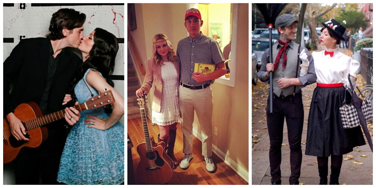 """<p>With your SO, transform into one of your favorite famous couples with these funny duo costume ideas. Dress up has never been more fun! Got kids? Try these <a rel=""""nofollow"""" href=""""http://www.womansday.com/life/g1898/family-halloween-costumes/"""">easy costume ideas for families</a>! </p>"""