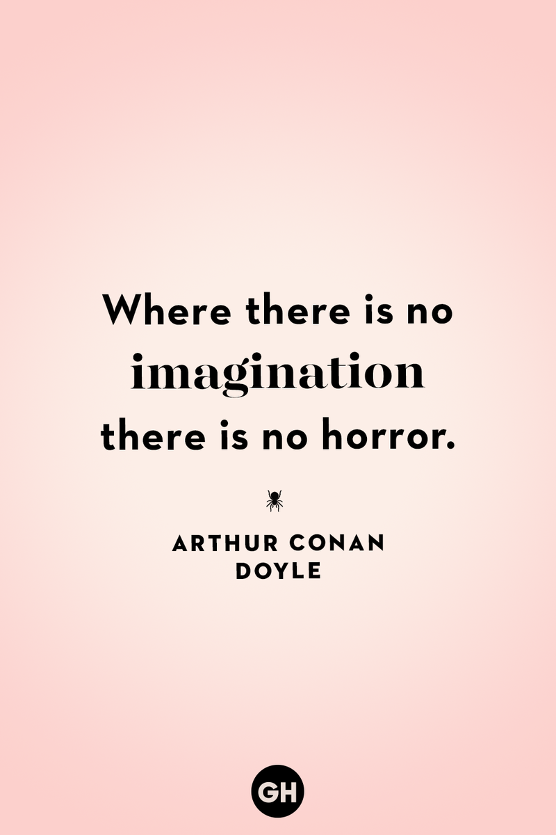 <p>Where there is no imagination there is no horror.</p>
