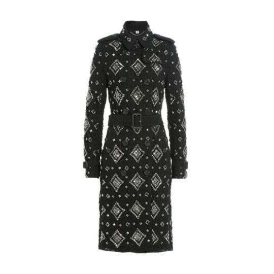 <p><b><span>Embellished Lace Trench Coat</span>,</b> Burberry $4445</p>