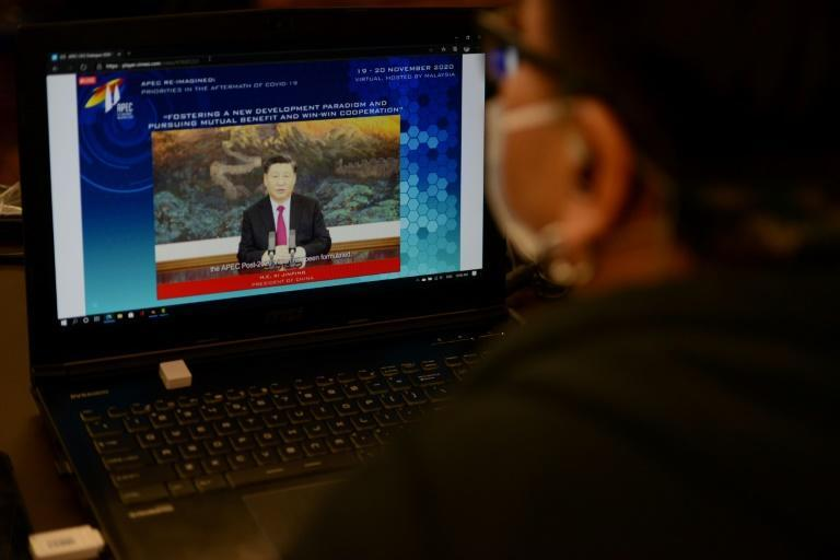 Xi Jinping's online address to the APEC summit vowed 'openness' on trade and warned against protectionism