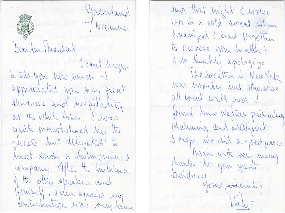 The letter was sent to Richard Nixon from Greenland. (Nixon Presidential Library)