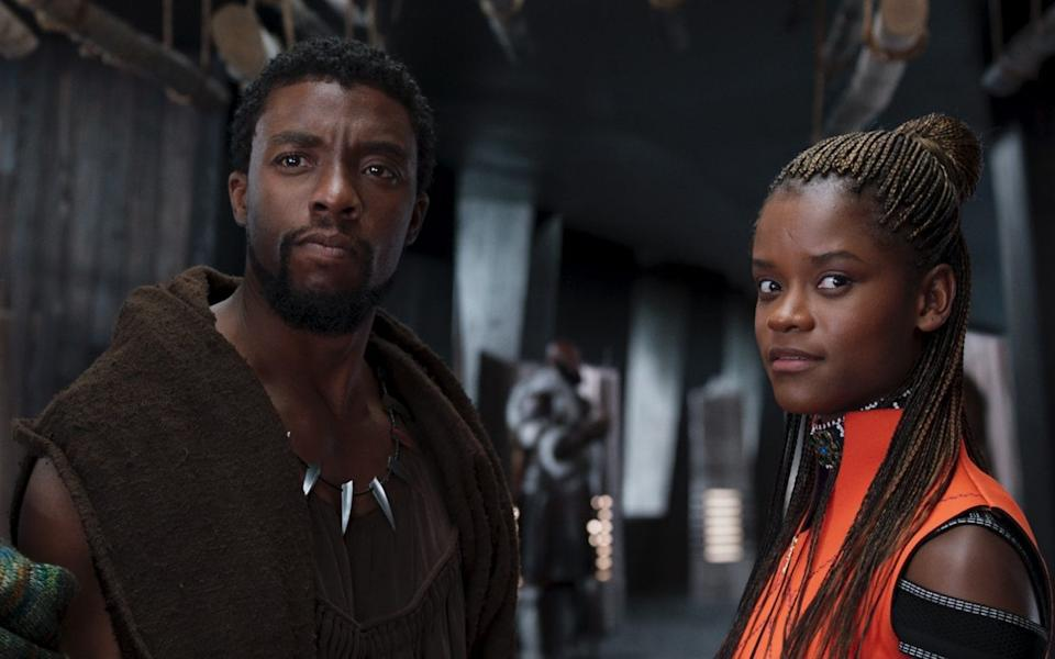 Blockbuster: Letitia Wright in Black Panther with the late Chadwick Boseman - Marvel Studios 2018