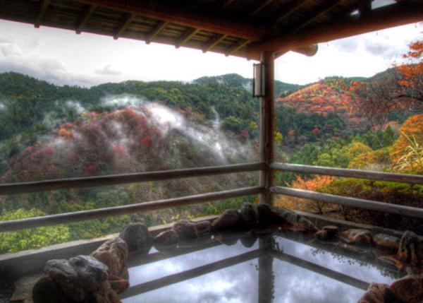 ▲An outdoor bath × superb view = paradise! (Photo provided by Yumoto Hounoya).