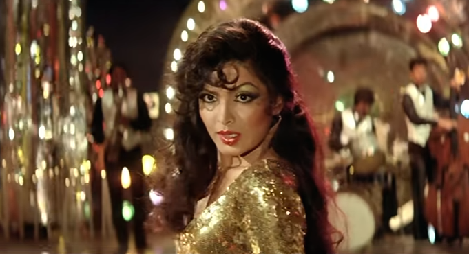 <p>Swaying to Bappi da's music under shiny disco lights, Parveen's golden girl avatar is a big mood. </p>