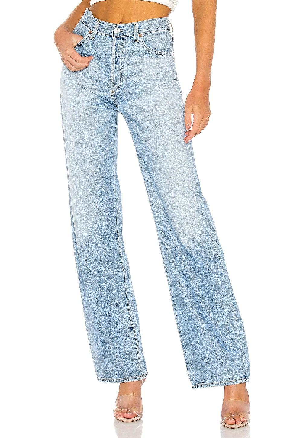 """<p>""""These <span>Citizens of Humanity Annina Jeans</span> ($238) are jeans you can lounge in - and that's something I don't think I've ever said about my jeans. Don't get me wrong, they look great dressed up to head out of the house, but they're the only pair I don't strip off my body the moment I get home. They're soft and roomy with a wide-leg and they just get better with wear."""" - Hannah Weil Mckinley, Fashion Director</p>"""