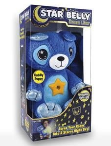 Star Belly Dream Lites combines two things: the cuddliness of a soft toy and a night light that casts starscapes on the ceiling or wall. It's a great help for children when it comes to falling asleep.