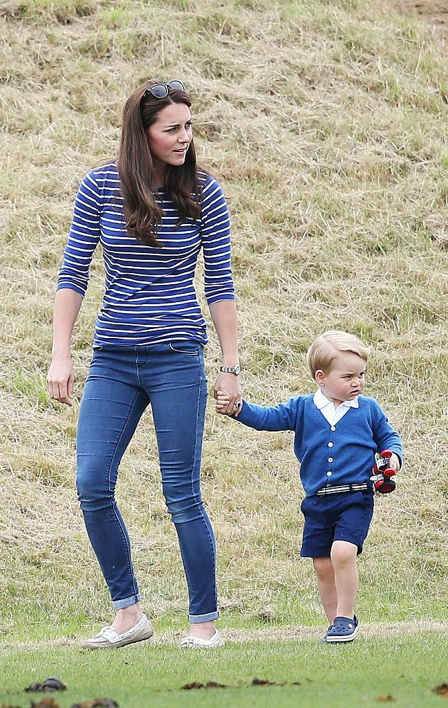 <p>Prince George isn't fazed by the controversy surrounding the resurgence of the croc. While watching Uncle Harry play polo, the toddler donned a navy pair of the love-them-or-hate-them sandals. Wait until he's a teenager and his mum digs out the pictures… <em>[Photo: Getty]</em> </p>