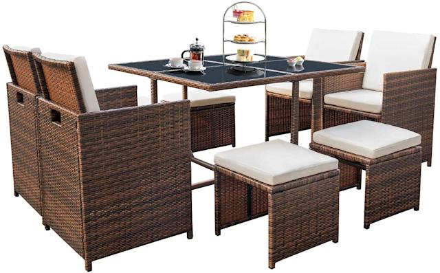Devoko Rattan Patio Dining Set