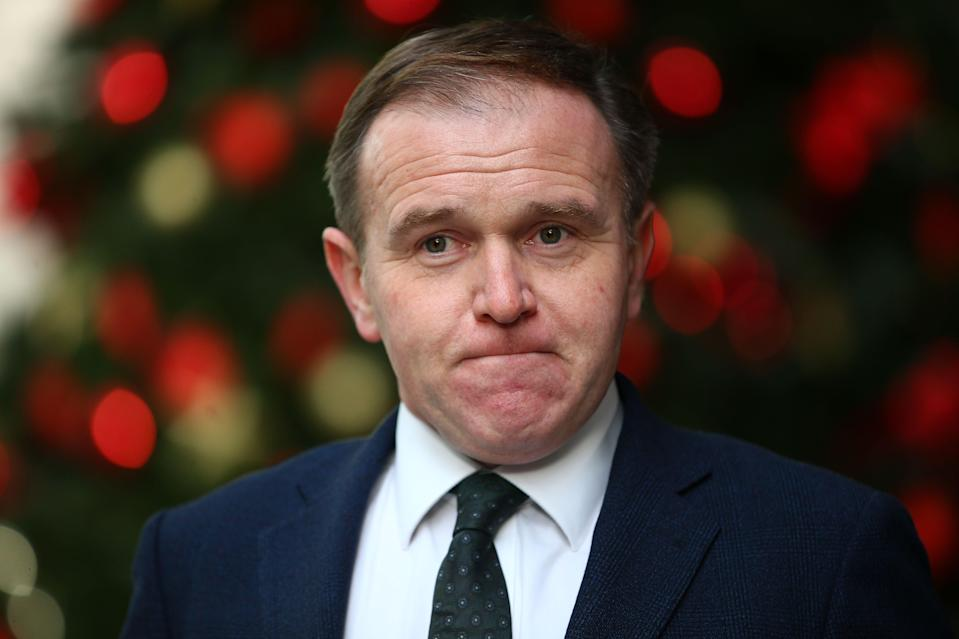 """<p> George Eustice claimed the new policy was needed to """"protect the integrity of our electoral system""""</p> (AFP via Getty Images)"""