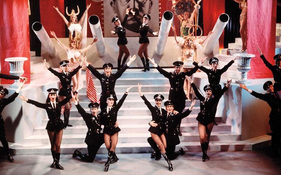 The Springtime For Hitler scene from Mel Brooks' Nazi satire The Producers