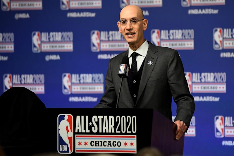 NBA commissioner Adam Silver is set to propose his return-to-play plan on a conference call on Thursday. (Stacy Revere/Getty Images)