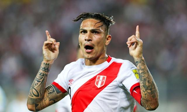 """<span class=""""element-image__caption"""">Peru's Paolo Guerrero is trying to overturn a drugs ban so he can appear in the World Cup.</span> <span class=""""element-image__credit"""">Photograph: Mariana Bazo/Reuters</span>"""