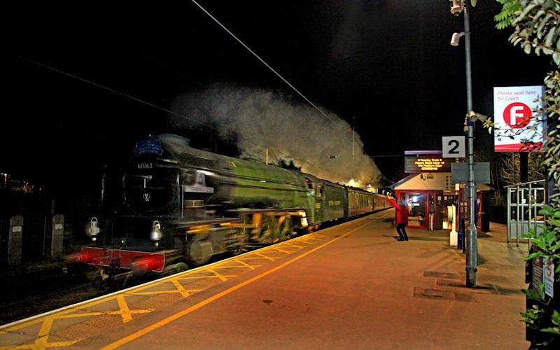 Tornado steam train secret speed run - Credit:  Maurice Burns